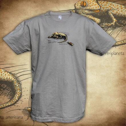 Tričko Gekon - šedá