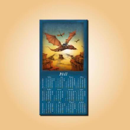 Magnetický kalendář Dračí jezdec