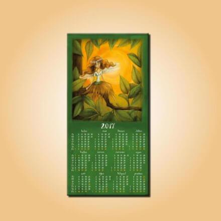 Magnetický kalendář Víla